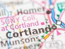 map of Cortland NY